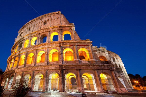 Colosseum Dome Rome Italy Stock photo © vichie81