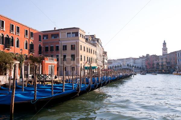 Gondola Venice Italy Stock photo © vichie81