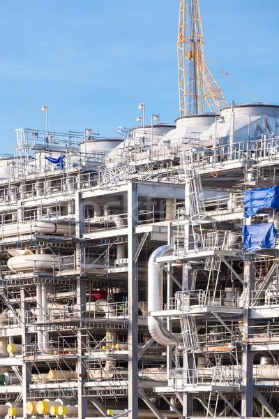 очистительный завод завода Природный газ завода хранения цистерна Сток-фото © vichie81
