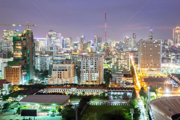 Bangkok şehir merkezinde iş gökyüzü ofis Stok fotoğraf © vichie81