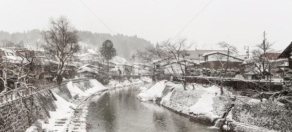 Winter Takayama panorama Stock photo © vichie81