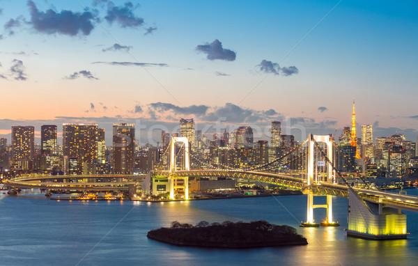 Tokyo Tower Rainbow Bridge Stock photo © vichie81