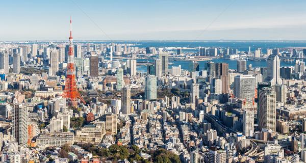 Tokio torre horizonte Japón panorama ciudad Foto stock © vichie81