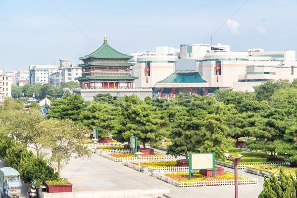 Zdjęcia stock: Dzwon · wieża · starożytnych · miasta · Chiny · niebo