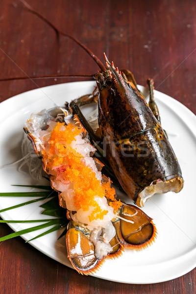 Homard sashimi japonais cuisine alimentaire mer Photo stock © vichie81