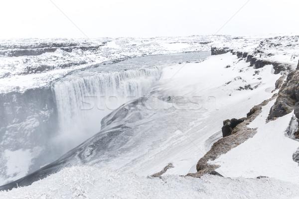 Исландия водопада зима снега воды пейзаж Сток-фото © vichie81