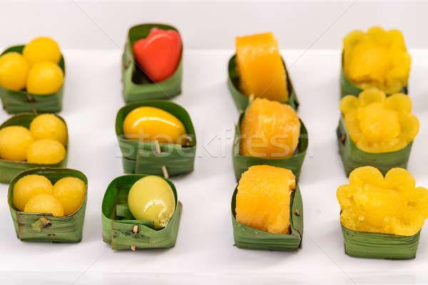 Thai édesség étel egészség szépség arany Stock fotó © vichie81