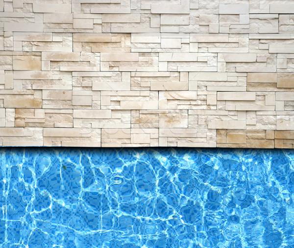 Nowoczesne cegły bruk basen wody sportu Zdjęcia stock © vichie81