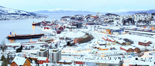 ron Ore Mine Factory Plant in Narvik Norway Stock photo © vichie81