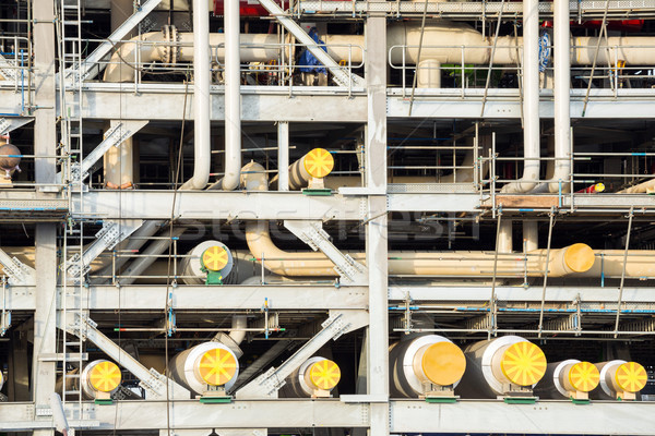 Fabrik Erdgas Raffinerie Lagerung Tank Öl Stock foto © vichie81