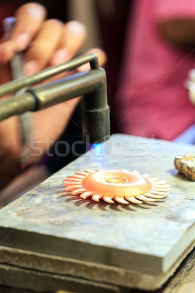 Goldsmith working Stock photo © vichie81