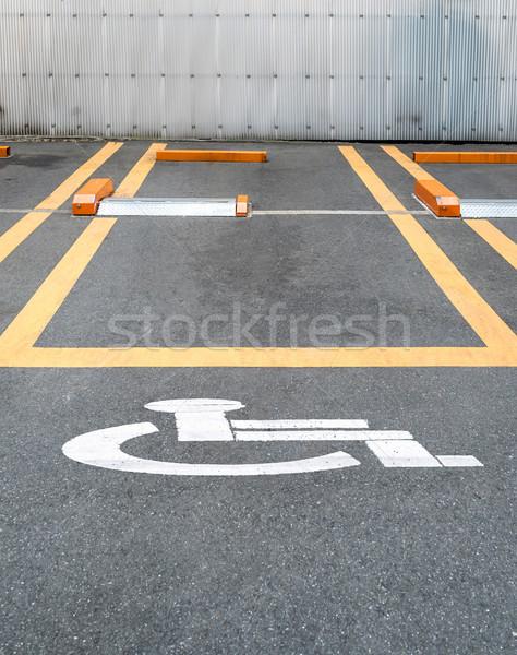 üres parkolóhely fogyatékos belváros textúra fal Stock fotó © vichie81