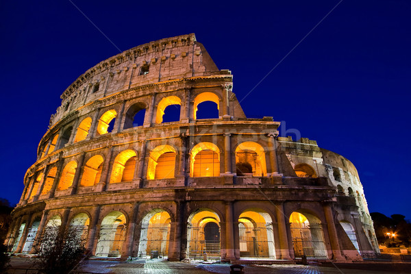Stock photo: colosseum rome italy night