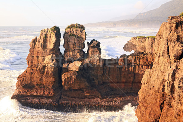 Pancake rock in New Zealand Stock photo © vichie81