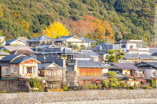 Kyoto Japon ville bâtiment forêt japonais Photo stock © vichie81