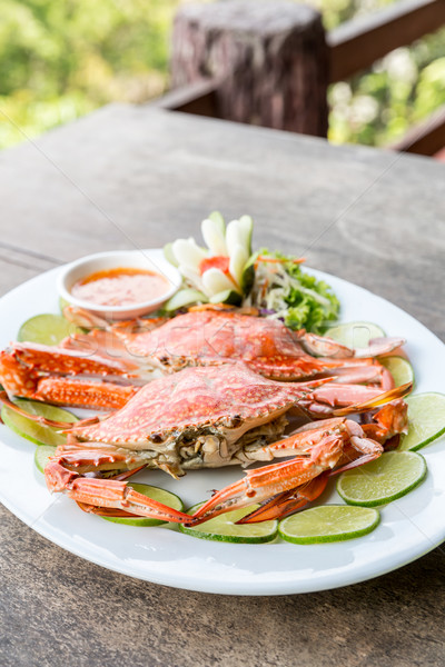 steam crab seafood Stock photo © vichie81