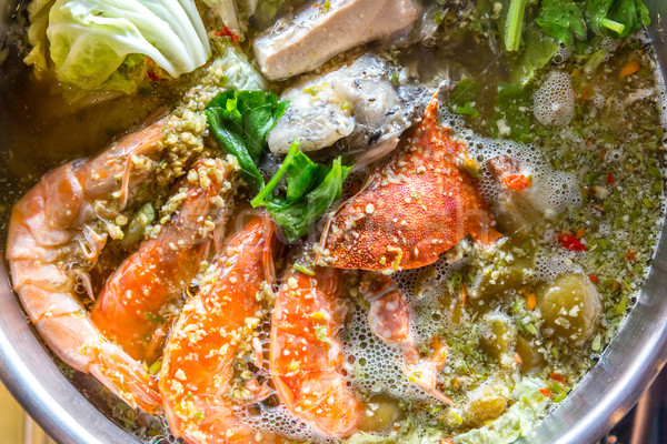 Seafood hot pot Stock photo © vichie81