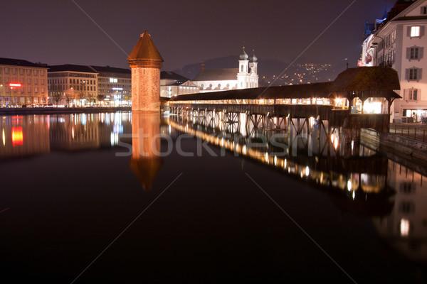 Chapel bridge Switzerland Stock photo © vichie81