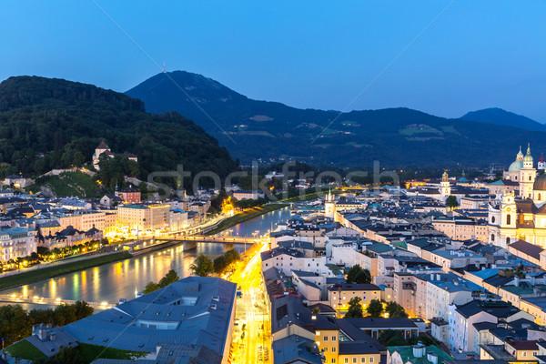 Salzburg Austria at dusk Stock photo © vichie81