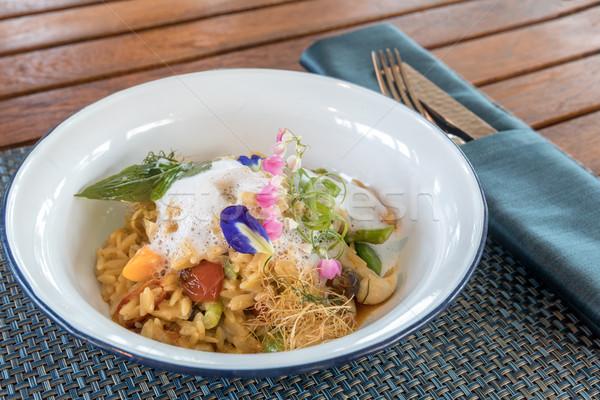 paella spanish fried rice Stock photo © vichie81