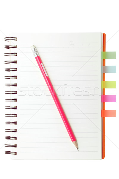 index book and pencil Stock photo © vichie81