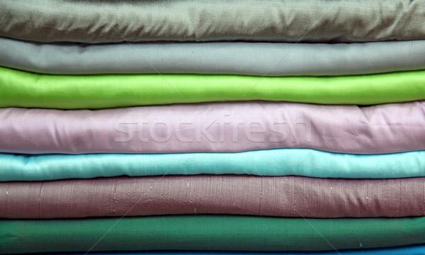stack of silk Stock photo © vichie81