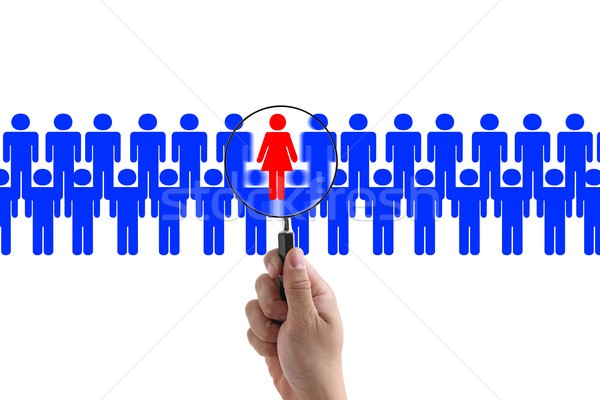 woman recruitment Stock photo © vichie81