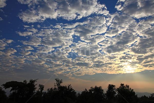 beautifil sunrise with cloudscape Stock photo © vichie81