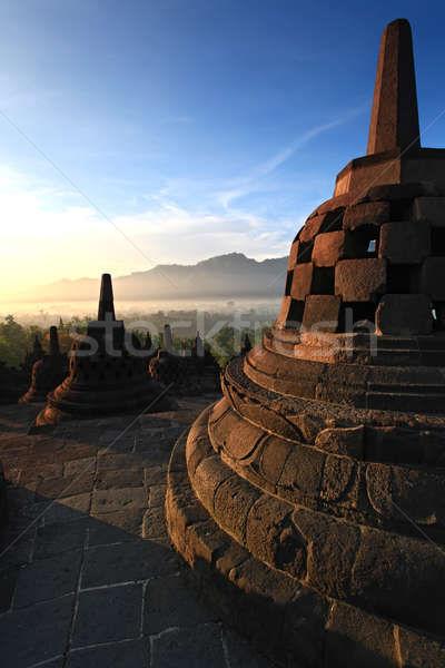 Tempel java Indonesië Blauw steen architectuur Stockfoto © vichie81