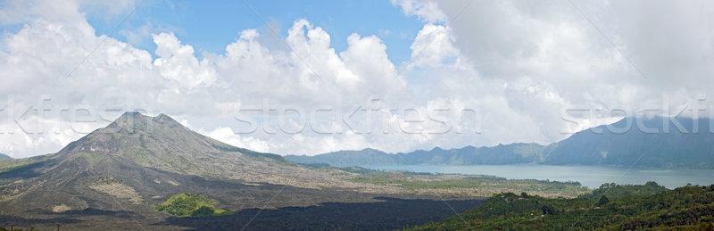 Panoráma vulkán tájkép kráter Bali Indonézia Stock fotó © vichie81