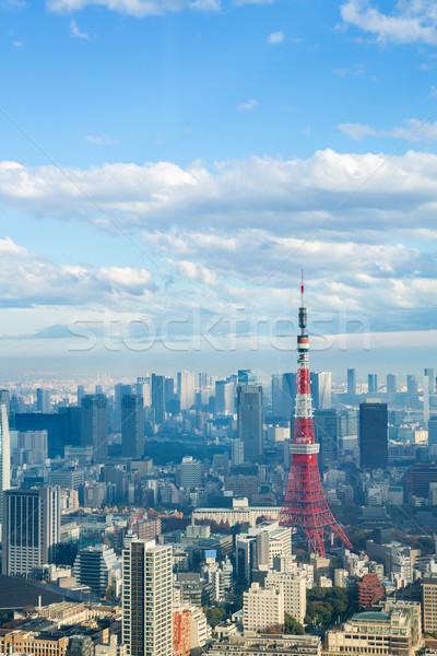 Tóquio torre linha do horizonte cityscape Japão cidade Foto stock © vichie81