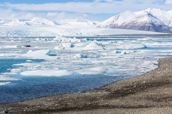 Gletsjer IJsland water natuur sneeuw schoonheid Stockfoto © vichie81