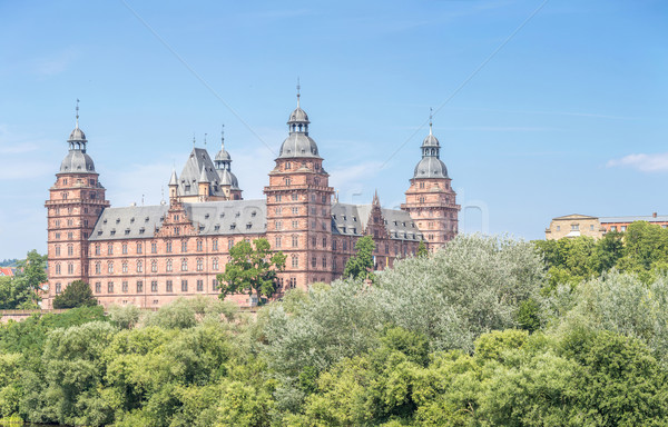 Foto stock: Palacio · panorama · Frankfurt · Alemania · árbol · forestales