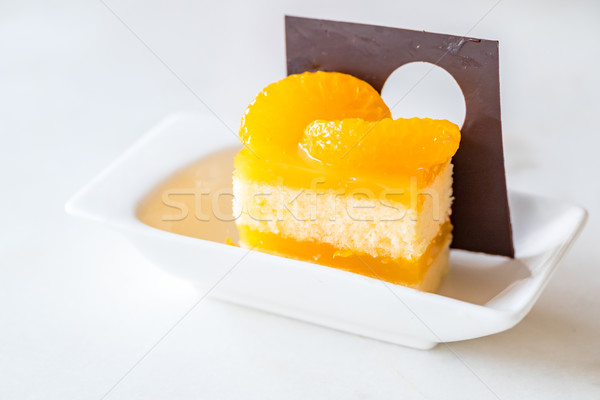 orange cake Stock photo © vichie81