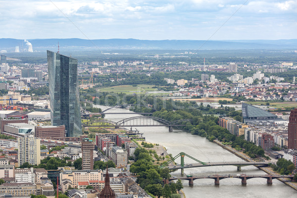 Frankfurt Germany aerial view Stock photo © vichie81
