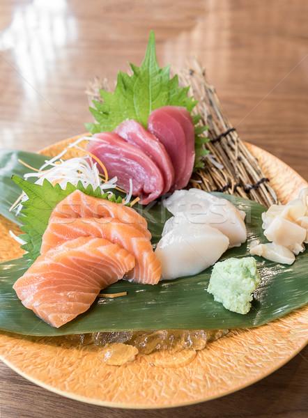Sashimi japanese cucina alimentare arancione asian Foto d'archivio © vichie81
