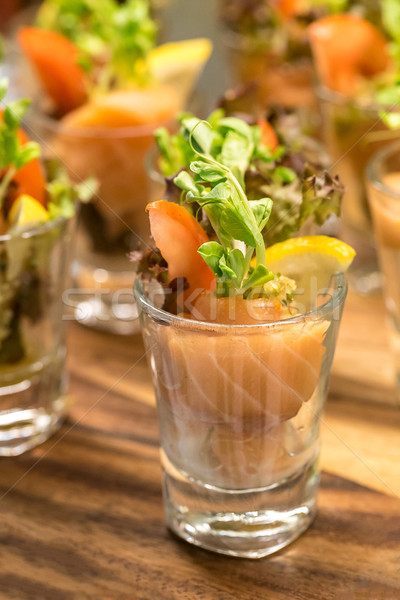 Salmon Coctail Stock photo © vichie81