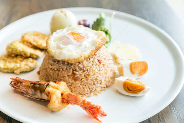 Tiger prawn fried rice Stock photo © vichie81
