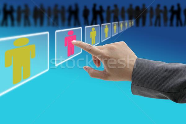 Elektronikus toborzás munkaerő üzlet folyamat emberi Stock fotó © vichie81