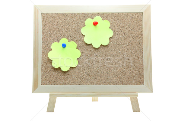 memo paper on cork board Stock photo © vichie81