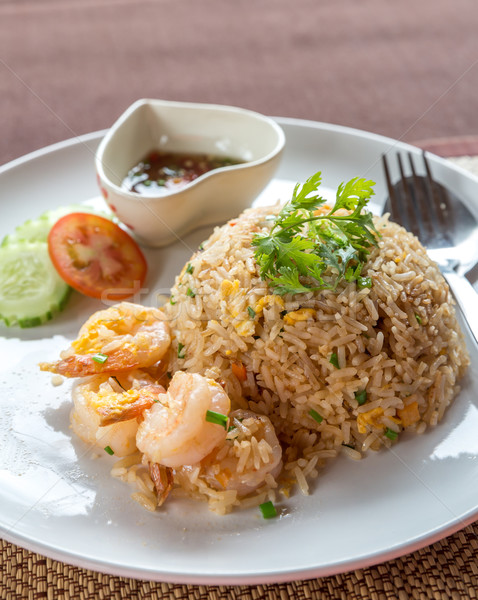 Shrimp fried rice Stock photo © vichie81