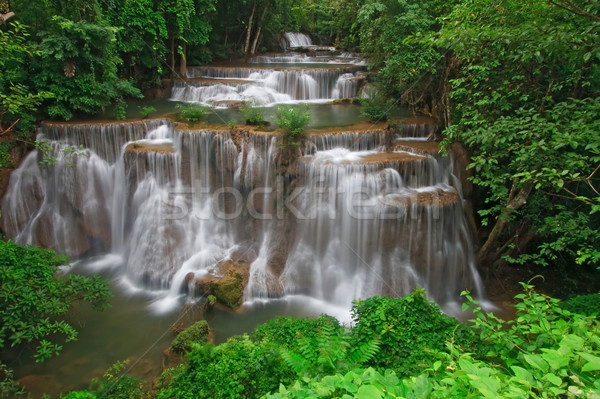 Stock photo: Tropical rainforest waterfall
