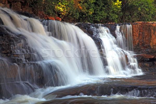 Tropische waterval regenwoud noorden water blad Stockfoto © vichie81