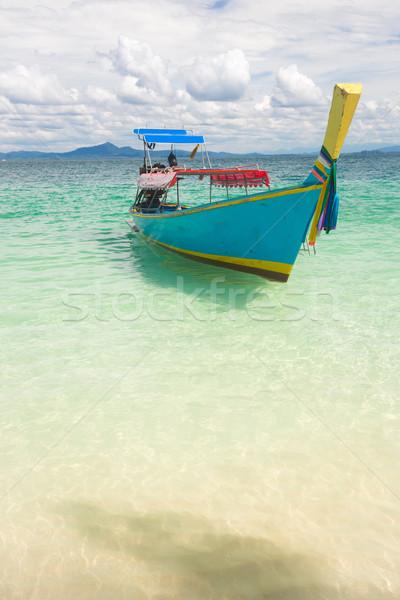 Long Tail Boat Tropical Beach Stock photo © vichie81