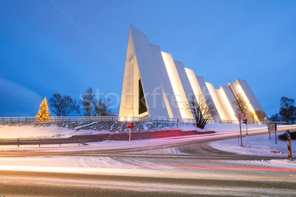 Arctic Cathedral Tromso Norway Stock photo © vichie81
