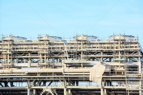 Refinaria planta fábrica armazenamento tanque Foto stock © vichie81