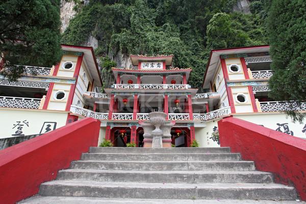 пещере храма здании природы рок китайский Сток-фото © vichie81