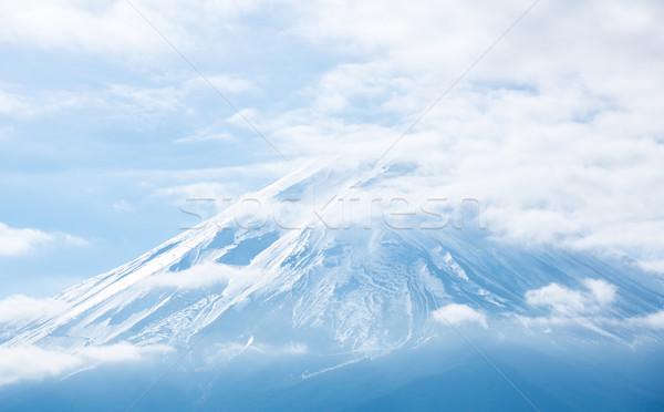 Foto stock: Montanha · fuji · Japão · lago · céu · água