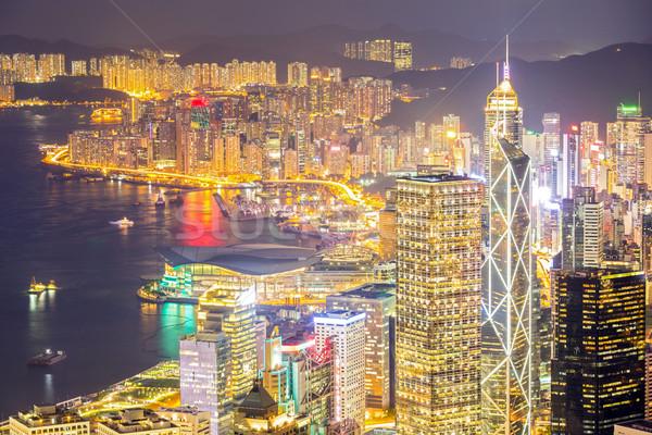 Hong Kong Skyline aerial Stock photo © vichie81