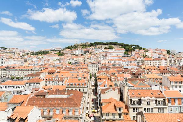 Лиссабон Cityscape Португалия город дома синий Сток-фото © vichie81